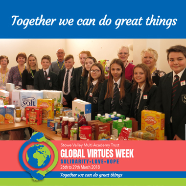 GVW - Students help at Fosse Food Bank